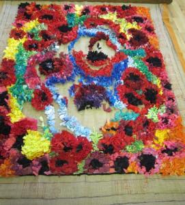 a poppy rug