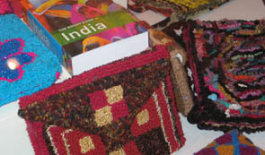 "Karen Griffith lead an Indian bags workshop as part of the inspiration for our ""Rough Guides"" exhibition"